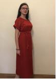 Сукня «Мережка» червоного кольору