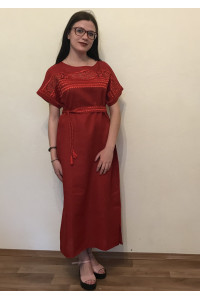 Платье «Мережка» красного цвета