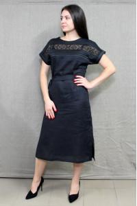 Сукня «Мережка» чорного кольору