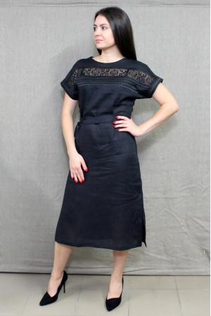 Платье «Мережка» черного цвета