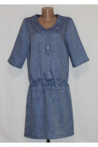 Платье «Гердана» синего цвета