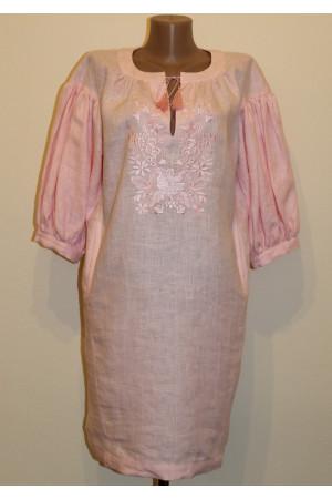Платье «Весенняя песня» розового цвета