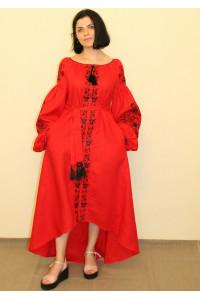Платье «Цветочные чары» красного цвета