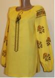 Вишиванка «Грайлива посмішка» жовтого кольору