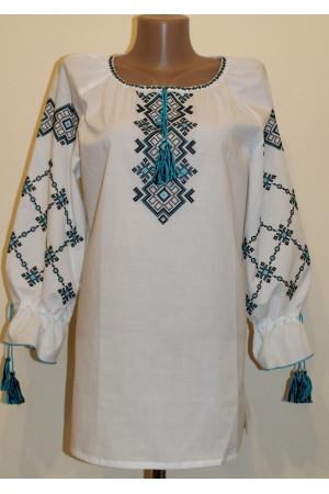 Вишиванка «Світанок» з бірюзовою вишивкою