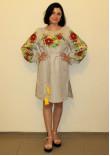 Сукня «Квіткова» бежевого кольору