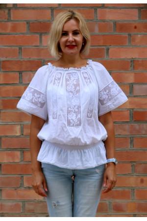 Вишиванка «Мережка» з білою вишивкою