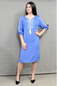 Платье «Стожары» голубого цвета