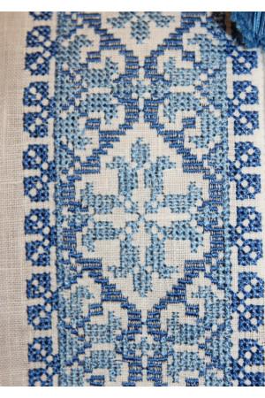 Вишиванка «Юність» з блакитним орнаментом