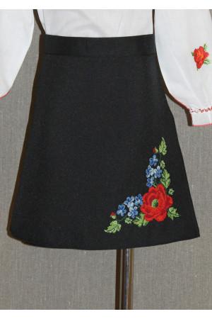 Спідниця для дівчинки «Панянка» чорного кольору