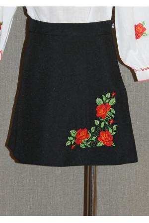Спідниця для дівчинки «Кияночка» чорного кольору