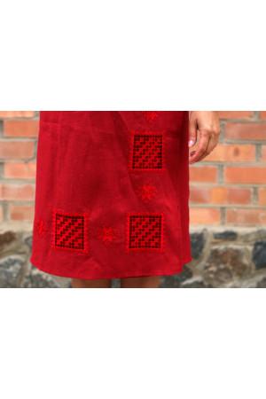 Спідниця «Мережка» червоного кольору