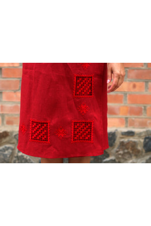 Юбка «Мережка» красного цвета