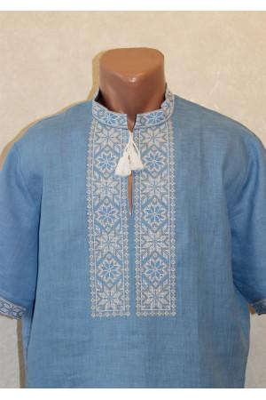 Вишиванка «Оберіг» з біло-коричневим орнаментом, КР