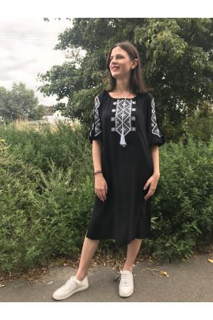 Сукня «Стожари» чорного кольору