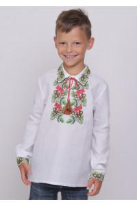 Вышиванка для мальчика «Дубочек» (домотканое полотно)