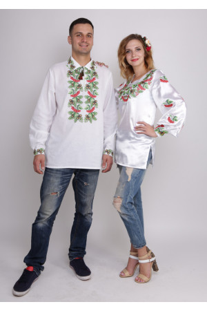 Комплект вышиванок для женщины и мужчины «Дуб и калина»