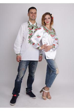 Комплект вишиванок для жінки та чоловіка «Дуб і калина»