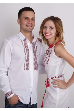 Семейный комплект «Возрождение»: платье и мужская вышиванка