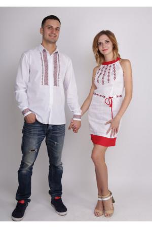 Сімейний комплект «Відродження»: сукня й чоловіча вишиванка