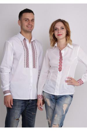 Комплект вышиванок для женщины и мужчины «Зори»