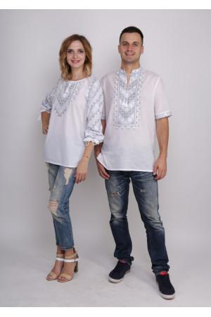 Комплект вышиванок для женщины и мужчины «Звездное сияние»