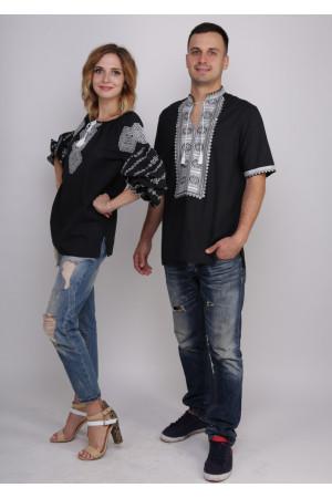 Комплект вышиванок для женщины и мужчины «Нежность»