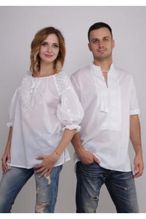 Комплект вышиванок для женщины и мужчины «Жемчужина»