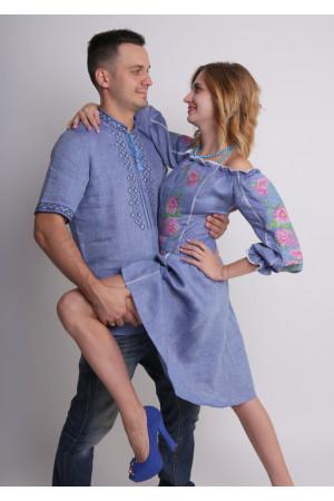 Семейный комплект «Мечта»: платье и мужская вышиванка