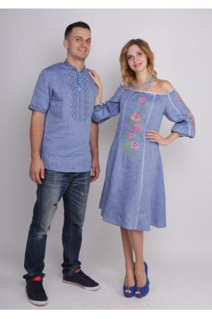 Сімейний комплект «Мрія»: сукня та чоловіча вишиванка