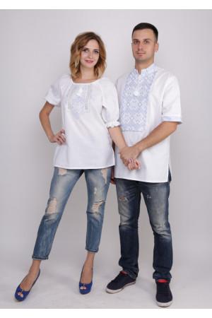 Комплект вышиванок для женщины и мужчины «Слобожанский»