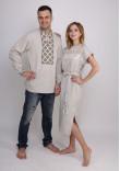 Сімейний комплект «Мережка»: сукня та чоловіча вишиванка