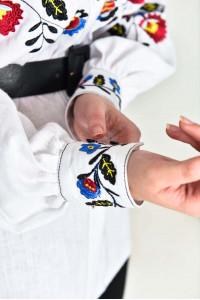 Вышиванка «Барвы» белого цвета