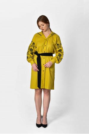 Платье «Рута» цвета охры