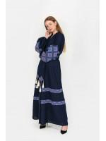 Платье «Созвездие» темно-синего цвета