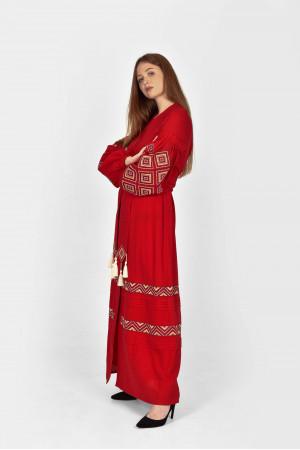 Платье «Созвездие» красного цвета
