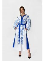 Платье «Казачка» белого цвета
