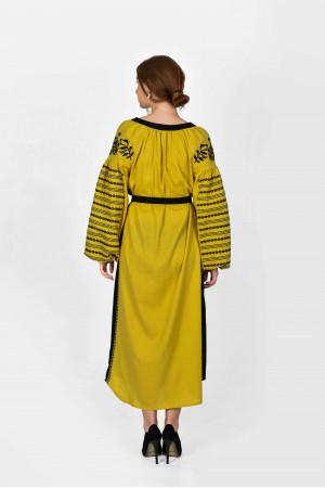 Платье «Казачка» цвета охры
