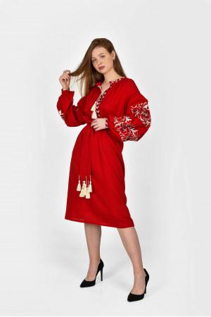 Платье «Владарка» красного цвета