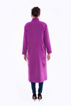 Женское вышитое пальто «Царина» цвета фуксии