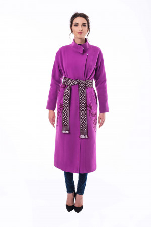 Жіноче вишите пальто «Царина» кольору фуксії
