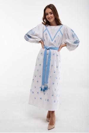 Платье «Росинка» белого цвета