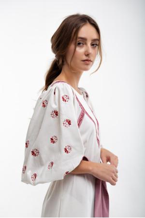Платье «Леля» белого цвета