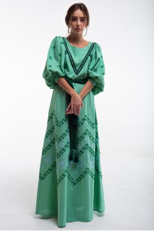 Платье «Леля» зеленого цвета