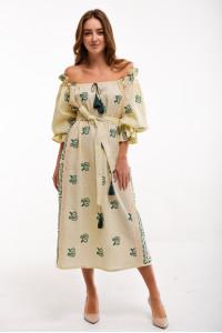 Платье «Барвинок» желтого цвета
