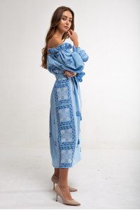 Платье «Барвинок» голубого цвета