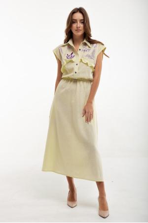 Платье «Соцветие» желтого цвета