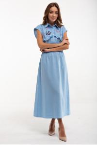 Сукня «Суцвіття» блакитного кольору