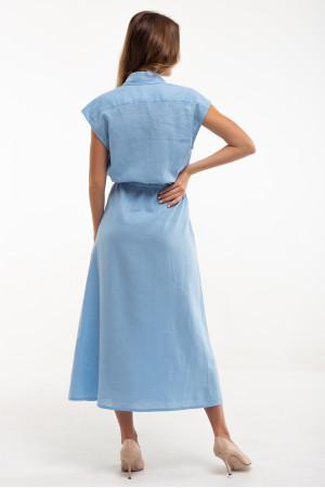 Платье «Соцветие» голубого цвета