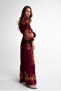 Платье «Дикая» бордового цвета